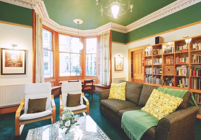 Beautiful apartments and many books