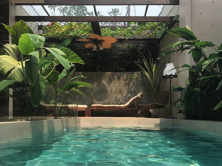 Hidden City Oasis in Pejaten Barat, South Jakarta.