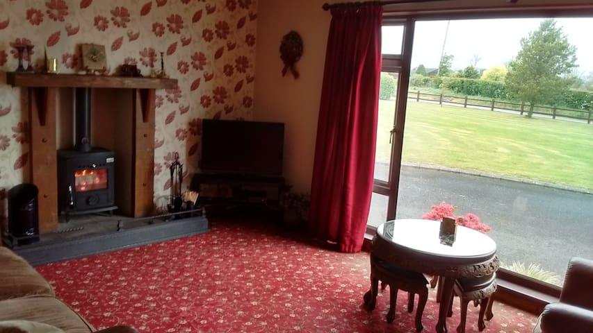 Sitting Room with wood burner