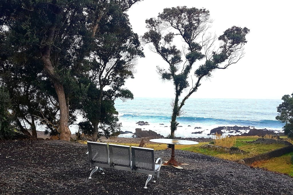Onsite private seating stunning ocean landscape and beach views