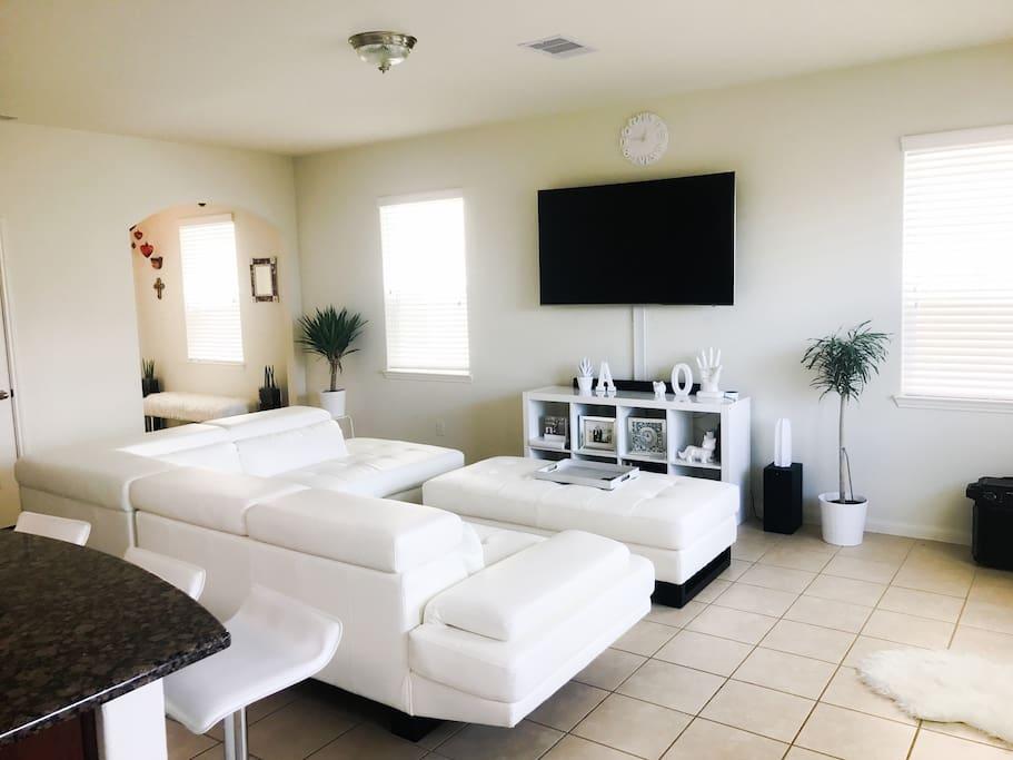 Enjoy the spacious living room.