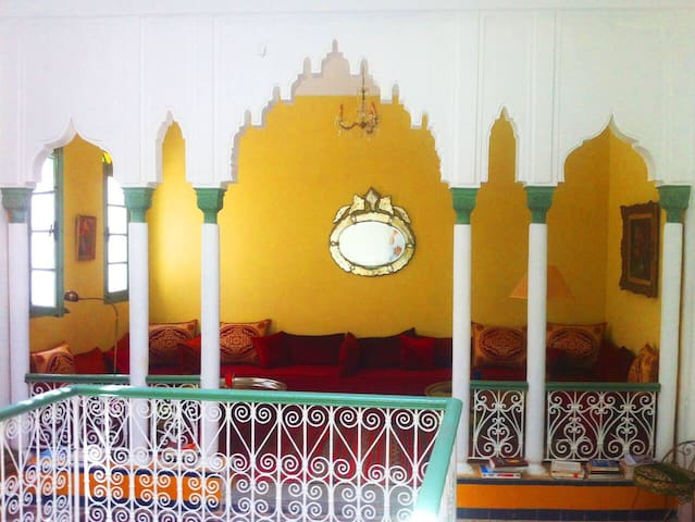 Traditional Riad in the earth of Tangier's Medina