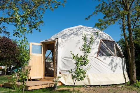 Geo Dome beheizt und klimatisiert