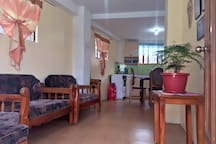Shared Living Room & Full Kitchen with Gas Stove/Oven, Refrigerator, Kitchenwares