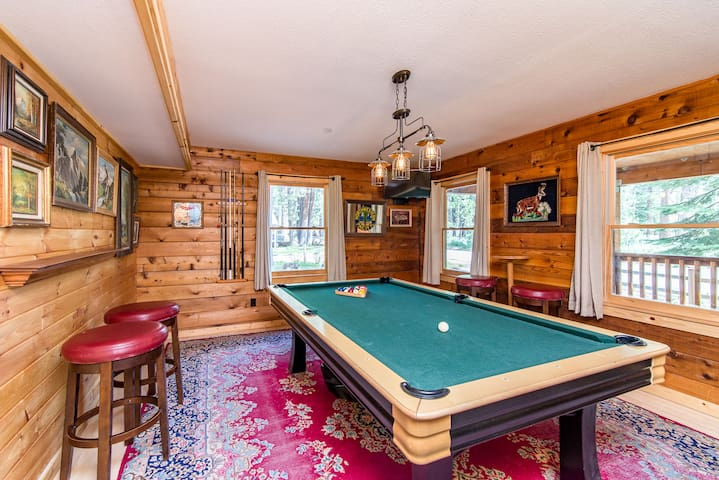 Play a round of billiards in the pool parlor.