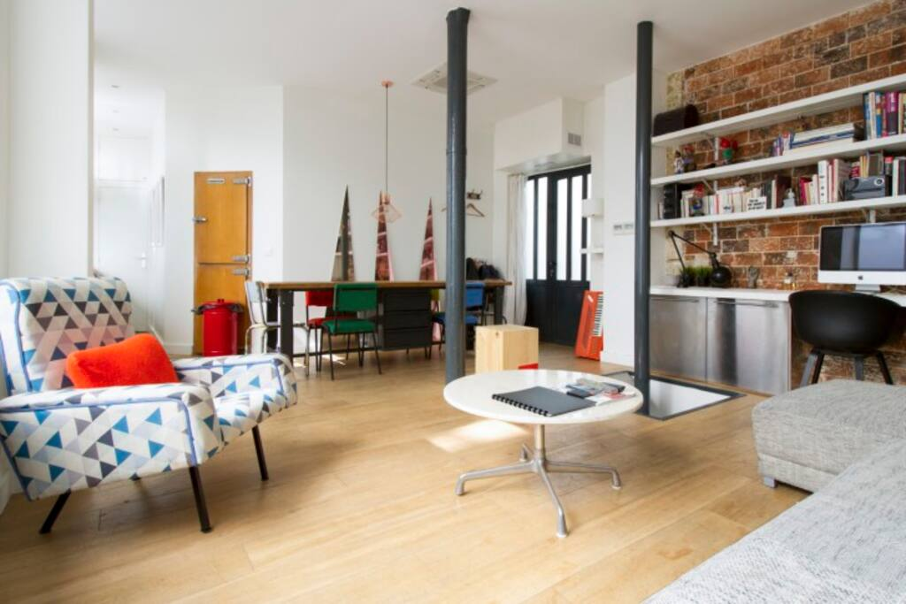 Atelier loft st martin marais lofts louer paris for Location atelier loft