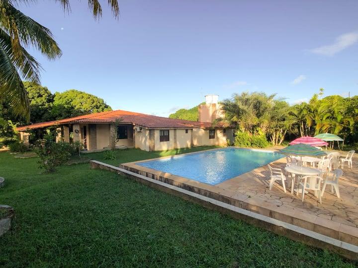 Casa de campo aconchegante com piscina exclusiva