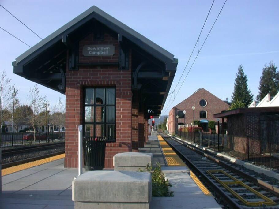 1 block to Light Rail transportation to Super Bowl - Levi Stadium