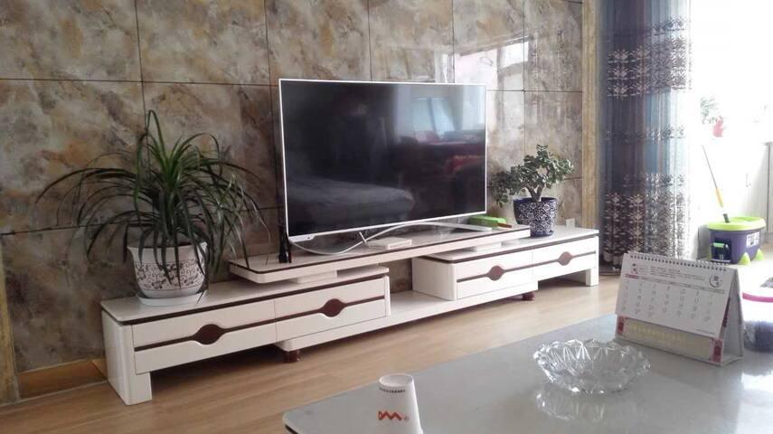 格尔木微猫公寓:蜗居家庭公寓两室两厅 适住4人 可加床 环境舒适 交通便利 - Haixi - Wohnung