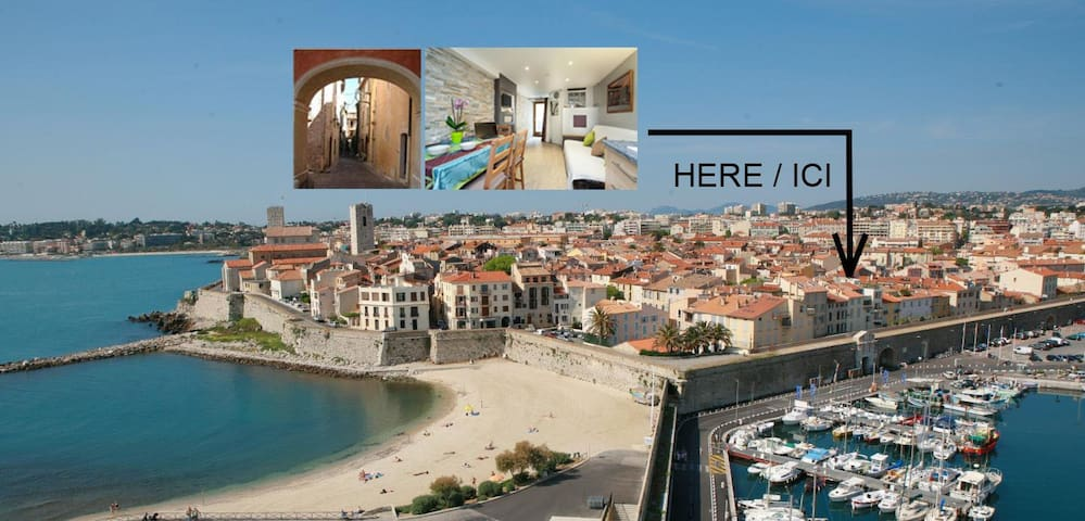 NEW 4* Spot in Old Town, marina & beach (100m) - Antibes - Apartament