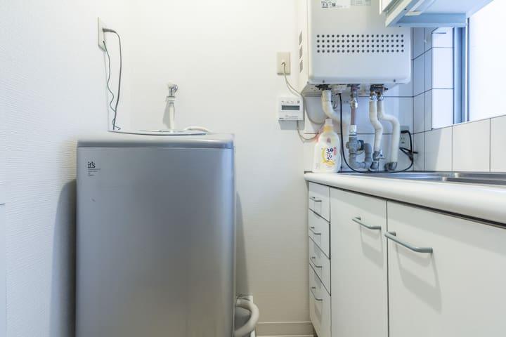 Washing machine in the apartment