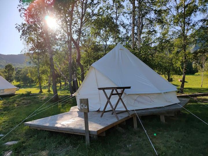 海坨山谷星空帐篷营地可住2-3人可团建