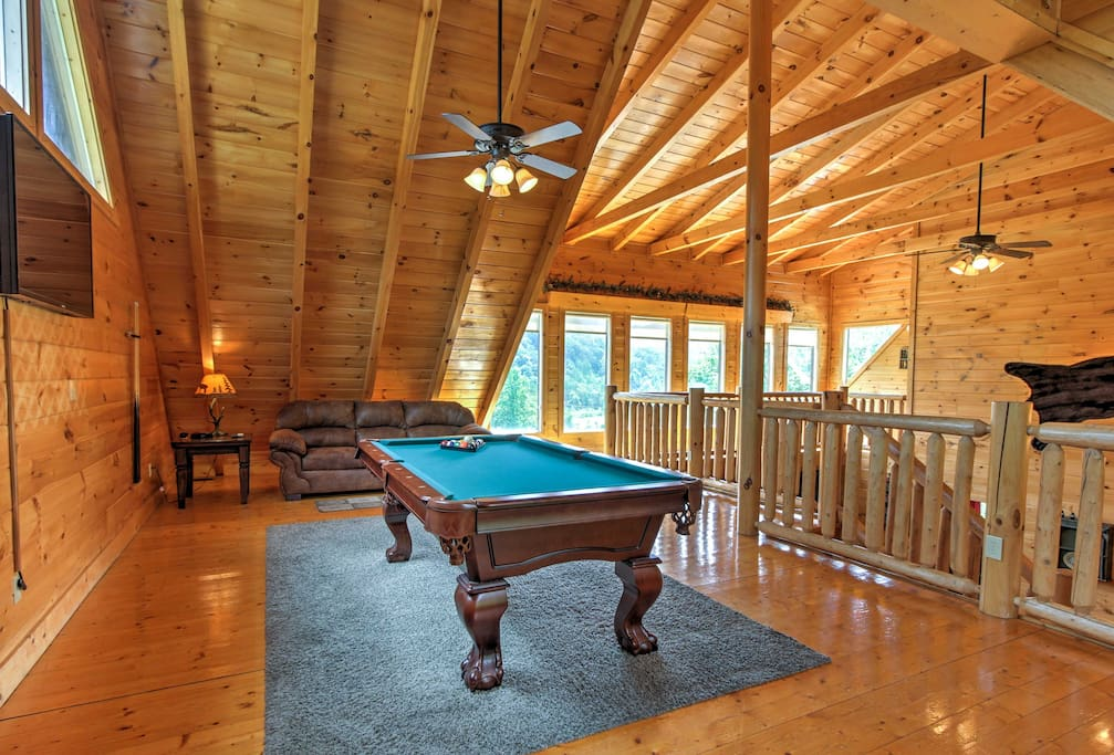 Challenge your group to a game of pool in the upstairs loft.