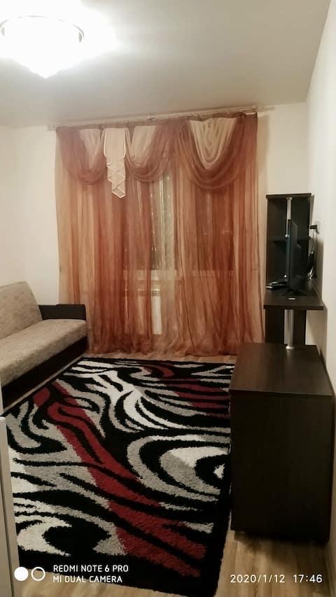По домашнему, уютная, квартира- студия в г.Сургут.