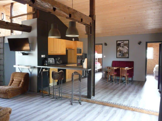 Gîte Sud des Landes,6 pers,pisc partagée chauffée - Estibeaux - Talo