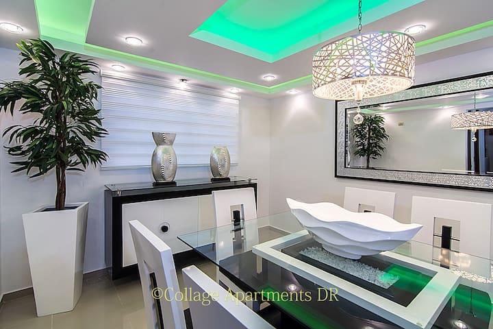 Modern Luxury King Size 3 A/C, 3TV Cable & WIFI ! - Santiago De Los Caballeros - Appartement