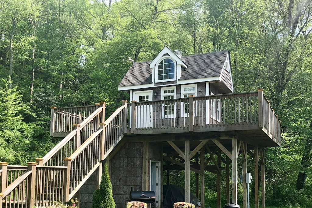 Exclusive Heated Treehouse; 15 Min To Asheville