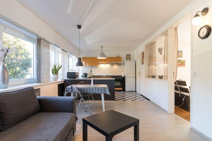 toll ausgestattete Wohnung mit Terrasse