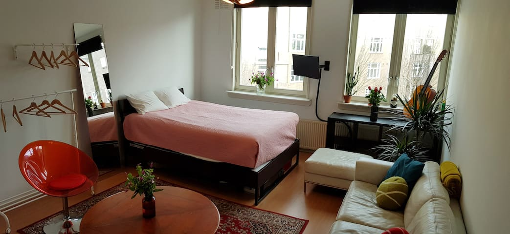Spacious room in cozy Amsterdam West apartment