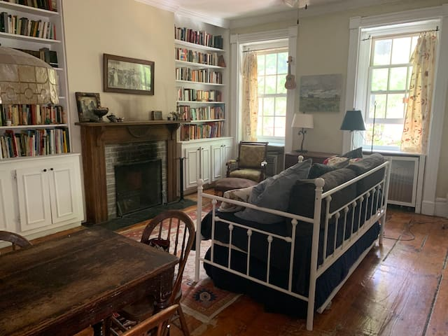 """Charming """"Library"""" Apt, Heart of Greenwich Village"""