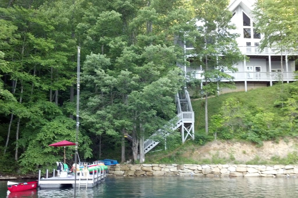 Private dock - great location for swimming in safety of cove but still on main lake