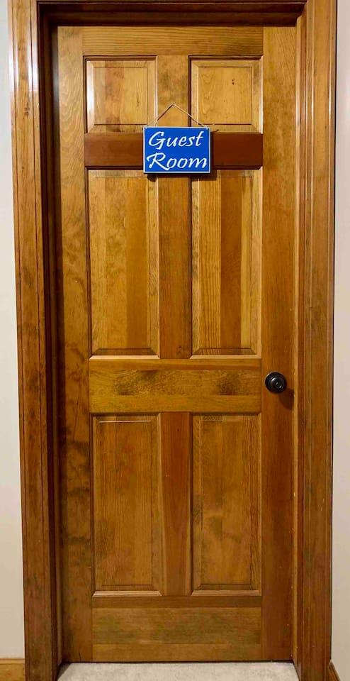 Blue Room Door