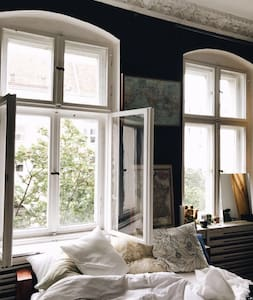 Great room in a typical Berlin style flat