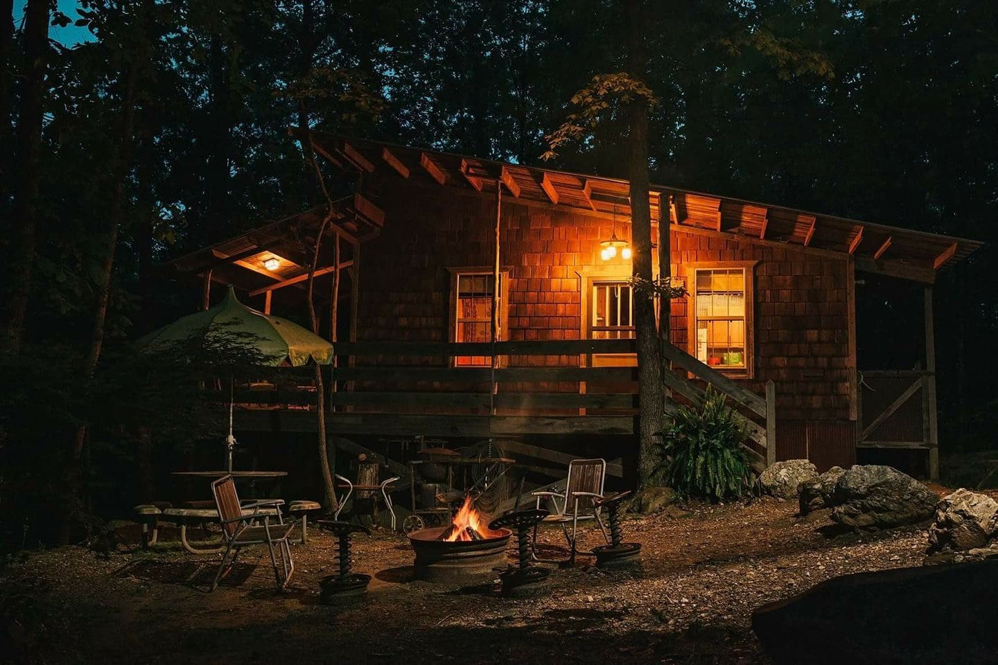Oak Ridge Cabin with fire pit. S'mores are a must!