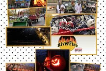 ATV enthusiasts & all ages join Riverfire 10/19/19 FREE ADMISSION poker run, zombie contest, festivities end w/lighting of Pumpkins & RiverFire. Book NOW or 2020 & SAVE SAVE-MESG us to help you coordinate next year if you missed out 2019 RiverFire