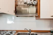 You will find clean & well-organized cupboards.