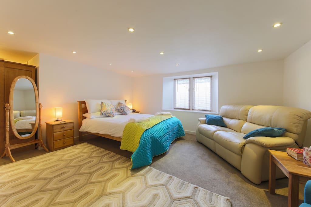 This is the en-suite king size room - a nice place to escape!