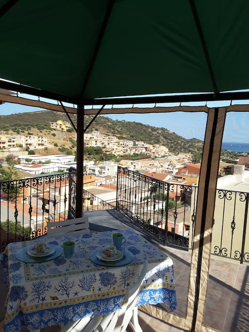 Gazebo in terrazza riservato agli ospiti