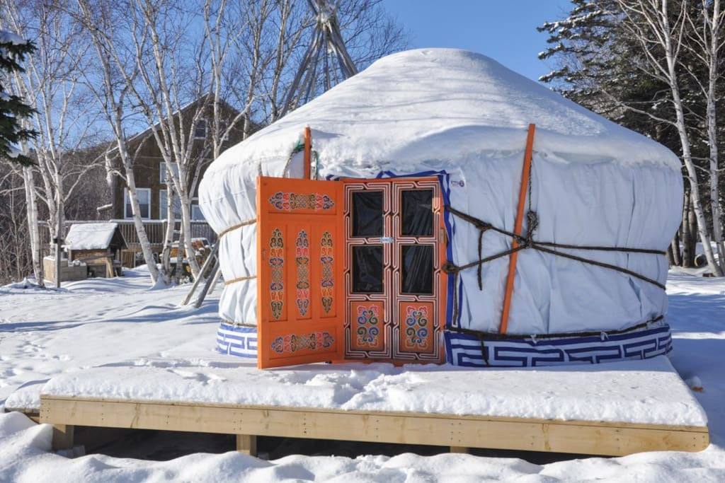Our Yurts are equipped with heat and are rentable year round.