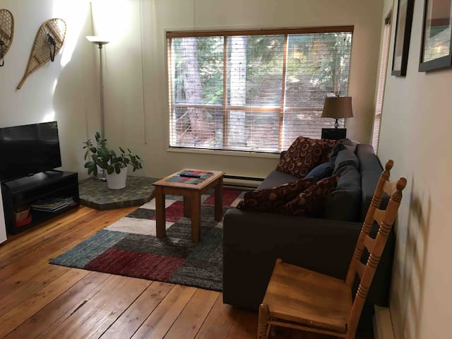 Cozy Creekside one bedroom with free parking