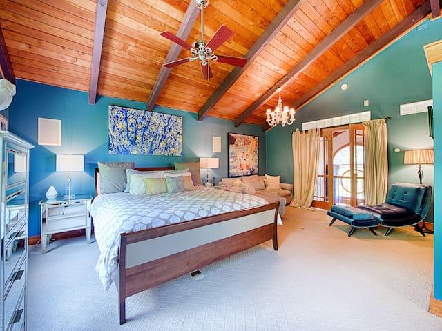 Bedroom #1. Master. King bed, second floor. En suite.