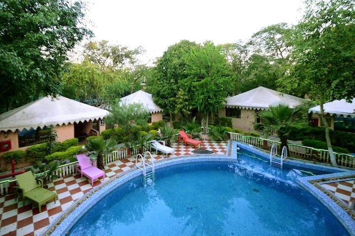 Swiss Cottage Deluxe room in Jaipur