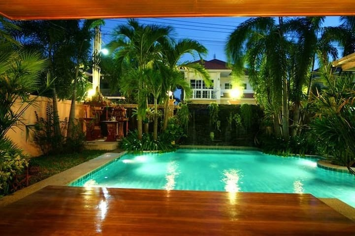 Private Pool with Lights to Enjoy Swimming at Night