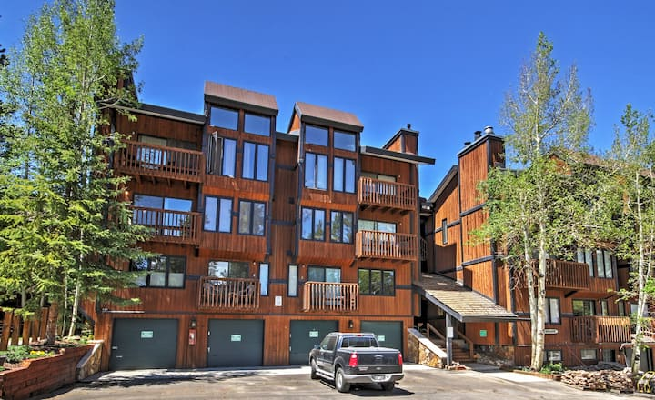 Mountainside Breck Condo w/ Shared Pool & Hot Tub!