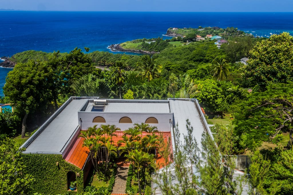 View to South overlooking island of Bequia