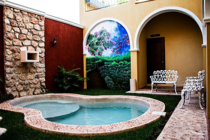 Habitación Celestún en Casa Sisal Valladolid