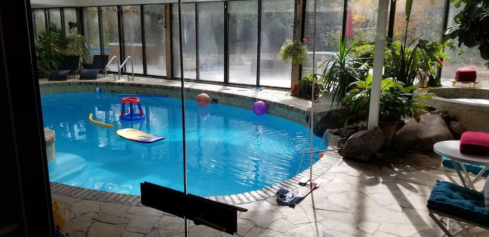 Pool from the kitchen