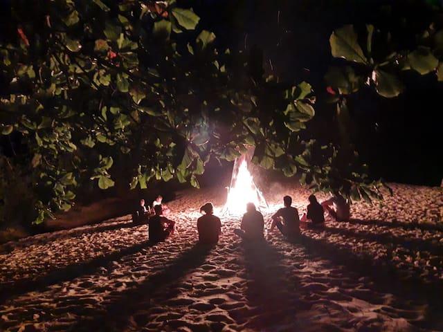 17) Espaço para sua própria barraca de camping