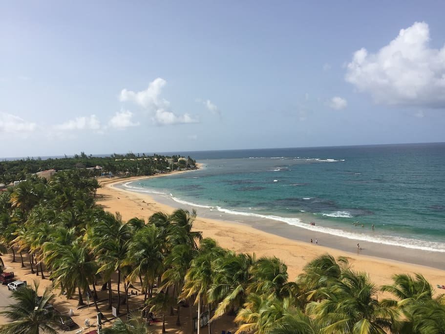 Luquillo beach just less than 5 mins away!