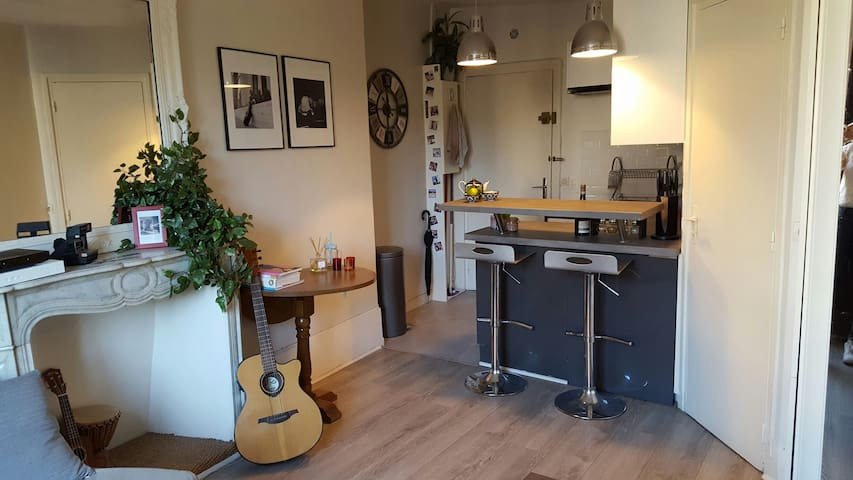 Joli studio - 23m2 - canal saint martin