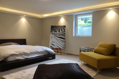 Modern apartment + garden (pool/beach 5 min away) - Pregny-Chambésy - Wohnung