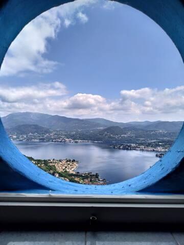 Madonna del Sasso vista lago d'Orta