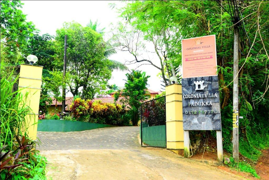 Colonial Villa Entrance