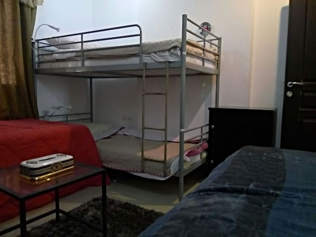 upper bunk #1 in 4 bed dormatory