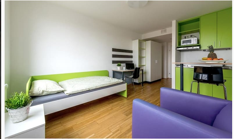 Cosy room in the green Danube city