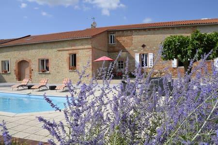 """""""En Roche"""", gîte avec piscine à 28 km de Toulouse - Caraman - Rumah"""